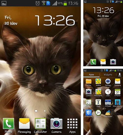 In addition to live wallpaper Night nature HD for Android phones and tablets, you can also download Surprised kitty for free.