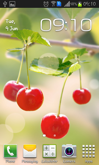 Download livewallpaper Sweet cherry for Android. Get full version of Android apk livewallpaper Sweet cherry for tablet and phone.