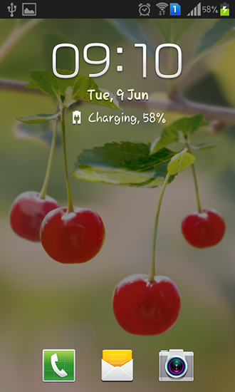 Screenshots of the Sweet cherry for Android tablet, phone.