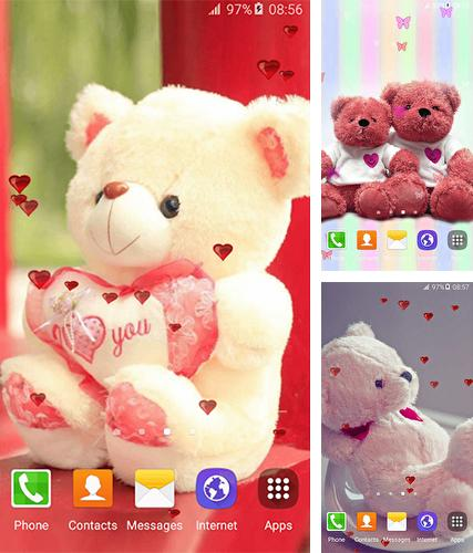 Download live wallpaper Sweet teddy bear for Android. Get full version of Android apk livewallpaper Sweet teddy bear for tablet and phone.