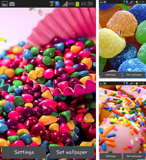In addition to live wallpaper Fireworks deluxe for Android phones and tablets, you can also download Sweets for free.