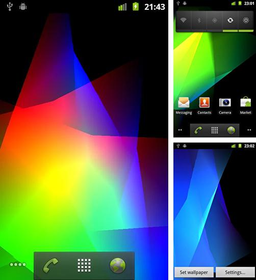 In addition to live wallpaper Ultra wave for Android phones and tablets, you can also download Symphony of colors for free.
