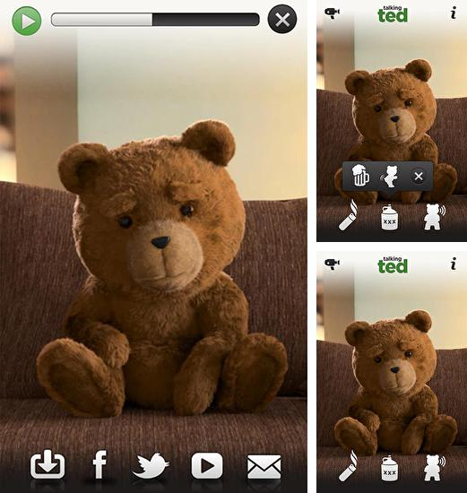 In addition to live wallpaper Diamond hearts for Android phones and tablets, you can also download Talking Ted for free.