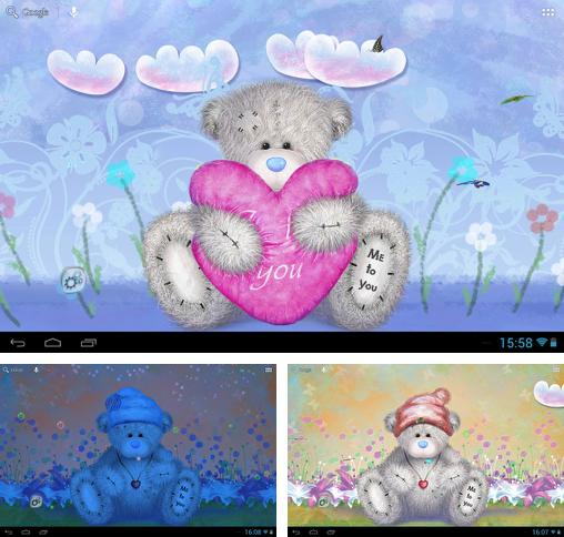 In addition to live wallpaper Flowers live wallpaper for Android phones and tablets, you can also download Teddy bear for free.