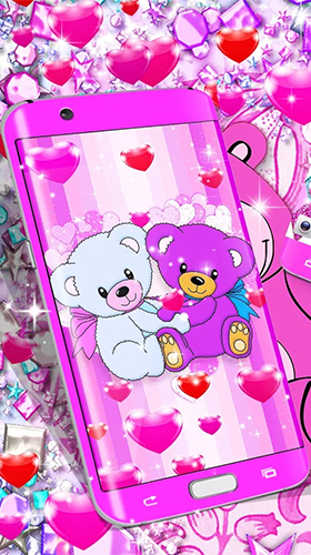 Screenshots of the Teddy bear by High quality live wallpapers for Android tablet, phone.