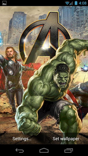 Kostenloses Android-Live Wallpaper The Avengers. Vollversion der Android-apk-App The avengers für Tablets und Telefone.