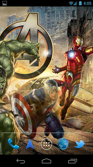 The avengers für Android spielen. Live Wallpaper The Avengers kostenloser Download.