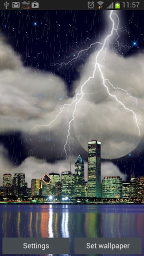 The Real Thunderstorm HD Chicago Download Livewallpaper
