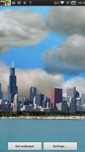 Screenshots of the The real thunderstorm HD (Chicago) for Android tablet, phone.