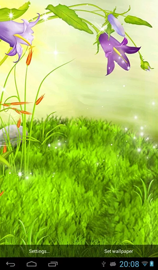 Screenshots of the The sparkling flowers for Android tablet, phone.