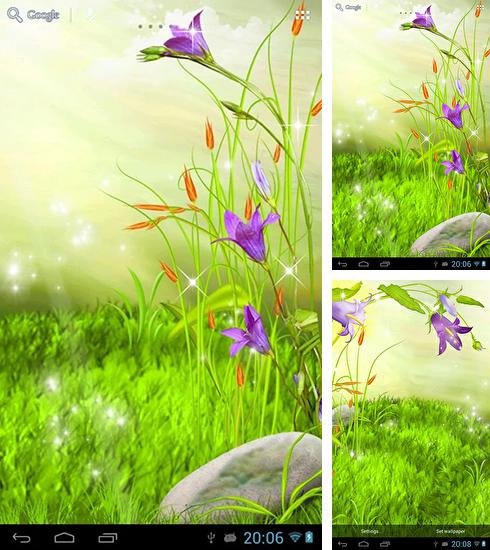 In addition to live wallpaper Balloons for Android phones and tablets, you can also download The sparkling flowers for free.