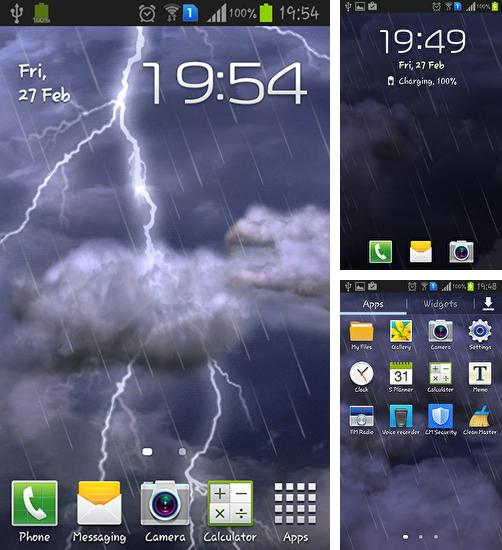 In addition to live wallpaper Light wave for Android phones and tablets, you can also download Thunderstorm for free.