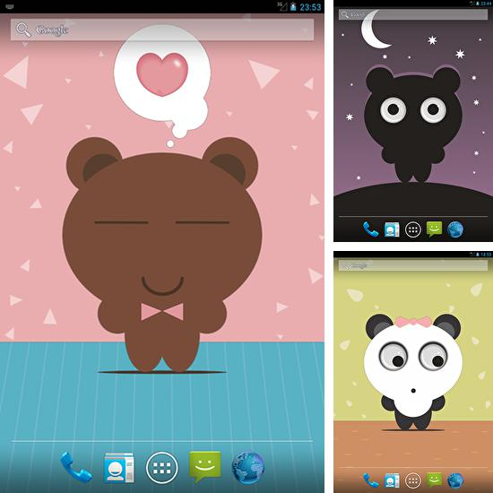 In addition to live wallpaper Candle for Android phones and tablets, you can also download Tony bear for free.