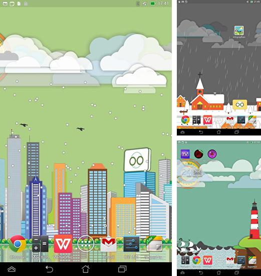 In addition to live wallpaper Retro patterns for Android phones and tablets, you can also download Toon landscape for free.
