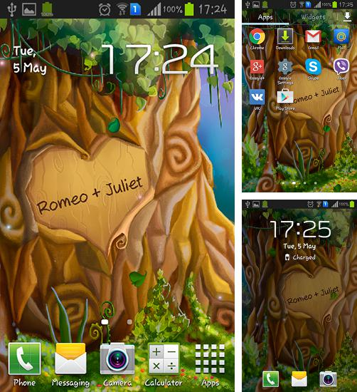 In addition to live wallpaper Far Galaxy for Android phones and tablets, you can also download Tree of love for free.