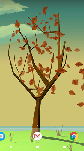 Screenshots of the Tree with falling leaves for Android tablet, phone.