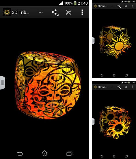 In addition to live wallpaper Fantasy forest 3D for Android phones and tablets, you can also download Tribal sun 3D for free.
