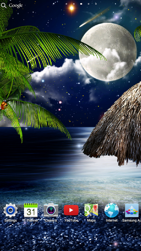 Screenshots von Tropical night by Amax LWPS für Android-Tablet, Smartphone.