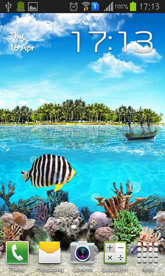 Screenshots von Tropical ocean für Android-Tablet, Smartphone.