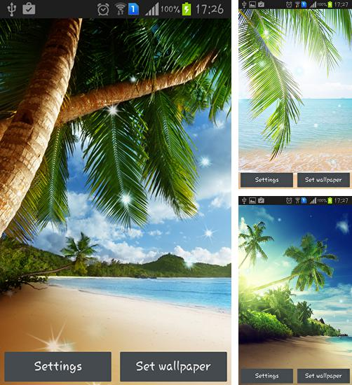 In addition to live wallpaper Meteor shower by Top live wallpapers hq for Android phones and tablets, you can also download Tropical beach for free.