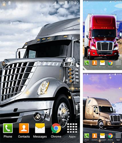 Kostenloses Android-Live Wallpaper Trucks. Vollversion der Android-apk-App Trucks für Tablets und Telefone.
