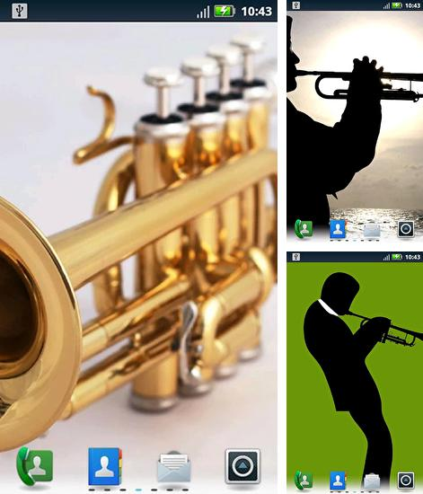 In addition to live wallpaper Real grass for Android phones and tablets, you can also download Trumpets for free.