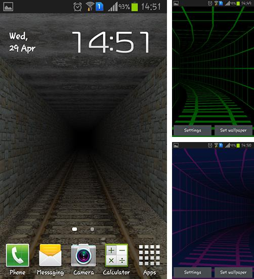 In addition to live wallpaper Sunny forest for Android phones and tablets, you can also download Tunnel 3D for free.