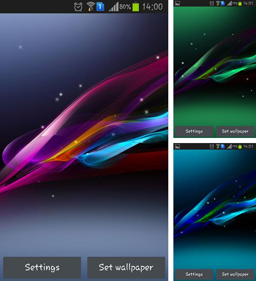 In addition to live wallpaper Particles fluids galaxy for Android phones and tablets, you can also download Ultra wave for free.