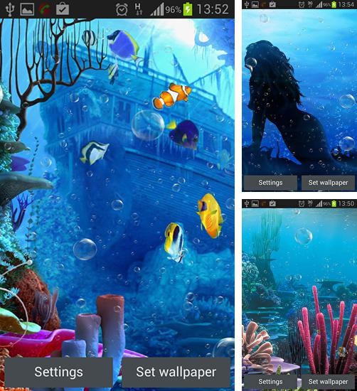 In addition to live wallpaper Lilly flower for Android phones and tablets, you can also download Under the sea for free.