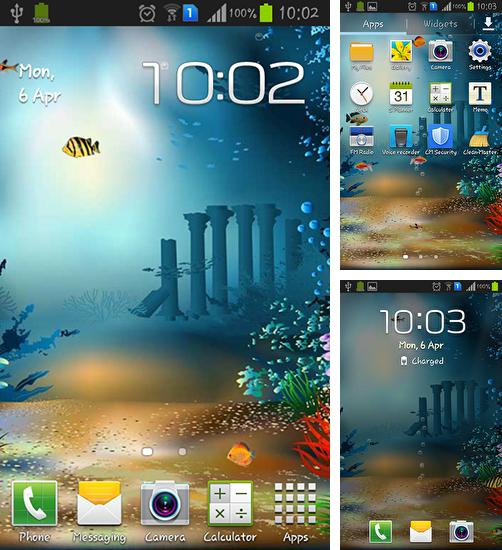 In addition to live wallpaper Snowflake for Android phones and tablets, you can also download Underwater world for free.
