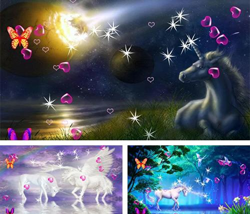 Download live wallpaper Unicorn 3D for Android. Get full version of Android apk livewallpaper Unicorn 3D for tablet and phone.