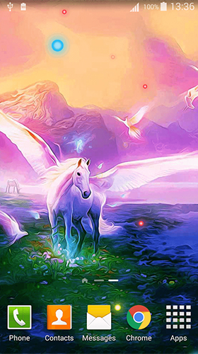 Screenshots of the Unicorn by Cute Live Wallpapers And Backgrounds for Android tablet, phone.