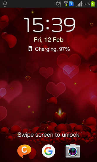 Screenshots of the Valentine 2016 for Android tablet, phone.