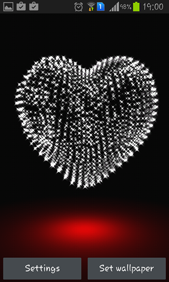 Screenshots of the Valentine Day: Heart 3D for Android tablet, phone.