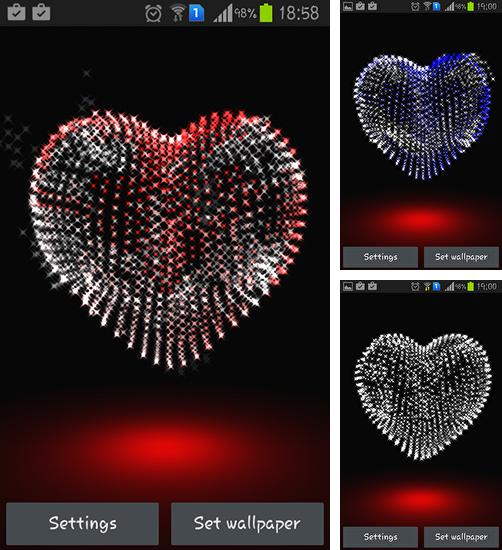 In addition to live wallpaper Spring nature for Android phones and tablets, you can also download Valentine Day: Heart 3D for free.