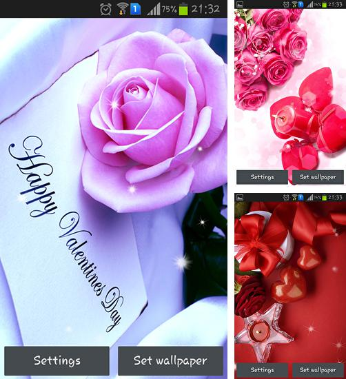In addition to live wallpaper Fresh Leaves for Android phones and tablets, you can also download Valentine's Day for free.