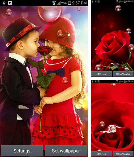 In addition to live wallpaper Solar system 3D for Android phones and tablets, you can also download Valentine's day 2015 for free.