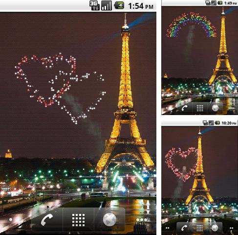 In addition to live wallpaper Magical clock tower for Android phones and tablets, you can also download Valentine's Day: Fireworks for free.
