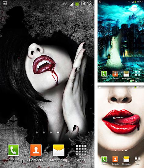 In addition to live wallpaper Rose picture clock by Webelinx Love Story Games for Android phones and tablets, you can also download Vampires for free.