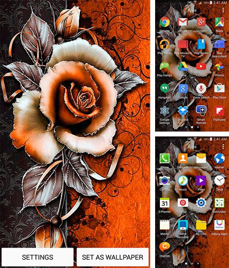 In addition to live wallpaper Aquarium fish 3D by BlackBird Wallpapers for Android phones and tablets, you can also download Vintage flower for free.