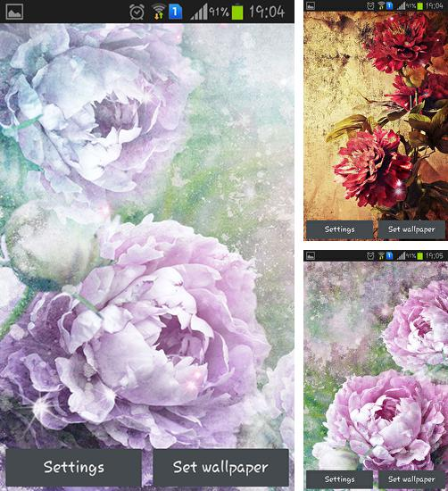 In addition to live wallpaper Barcelona for Android phones and tablets, you can also download Vintage roses for free.