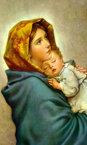 Queen mary with child jesus stock image image of child, angelic.