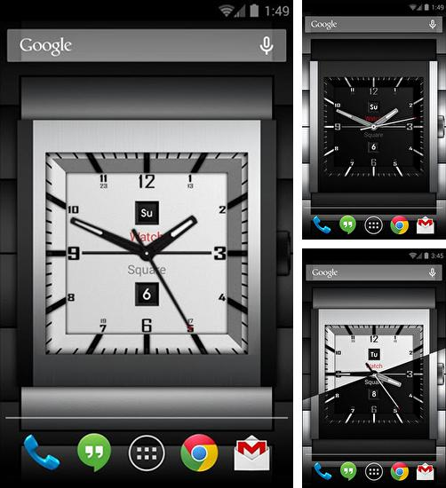 Download live wallpaper Watch square lite for Android. Get full version of Android apk livewallpaper Watch square lite for tablet and phone.