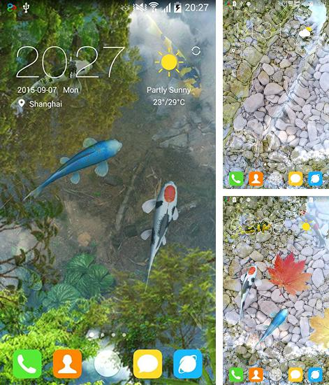In addition to live wallpaper Ink for Android phones and tablets, you can also download Water garden for free.