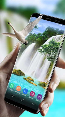 Download Waterfall and swan - livewallpaper for Android. Waterfall and swan apk - free download.