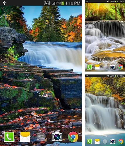 Kostenloses Android-Live Wallpaper Wasserfall. Vollversion der Android-apk-App Waterfall by Live wallpaper HD für Tablets und Telefone.