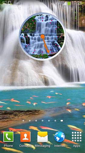 Download livewallpaper Waterfall: Clock for Android. Get full version of Android apk livewallpaper Waterfall: Clock for tablet and phone.