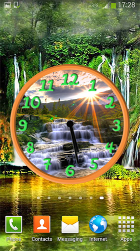 Download Waterfall: Clock - livewallpaper for Android. Waterfall: Clock apk - free download.