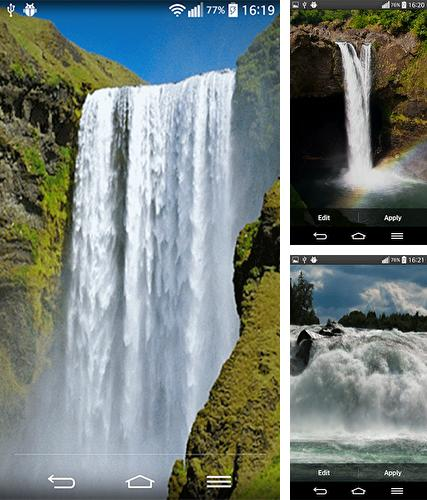Kostenloses Android-Live Wallpaper Wasserfall-Geräusche. Vollversion der Android-apk-App Waterfall sounds by Wallpapers and Backgrounds Live für Tablets und Telefone.