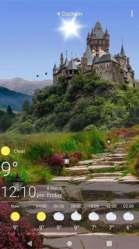 Screenshots of the Weather by SkySky for Android tablet, phone.